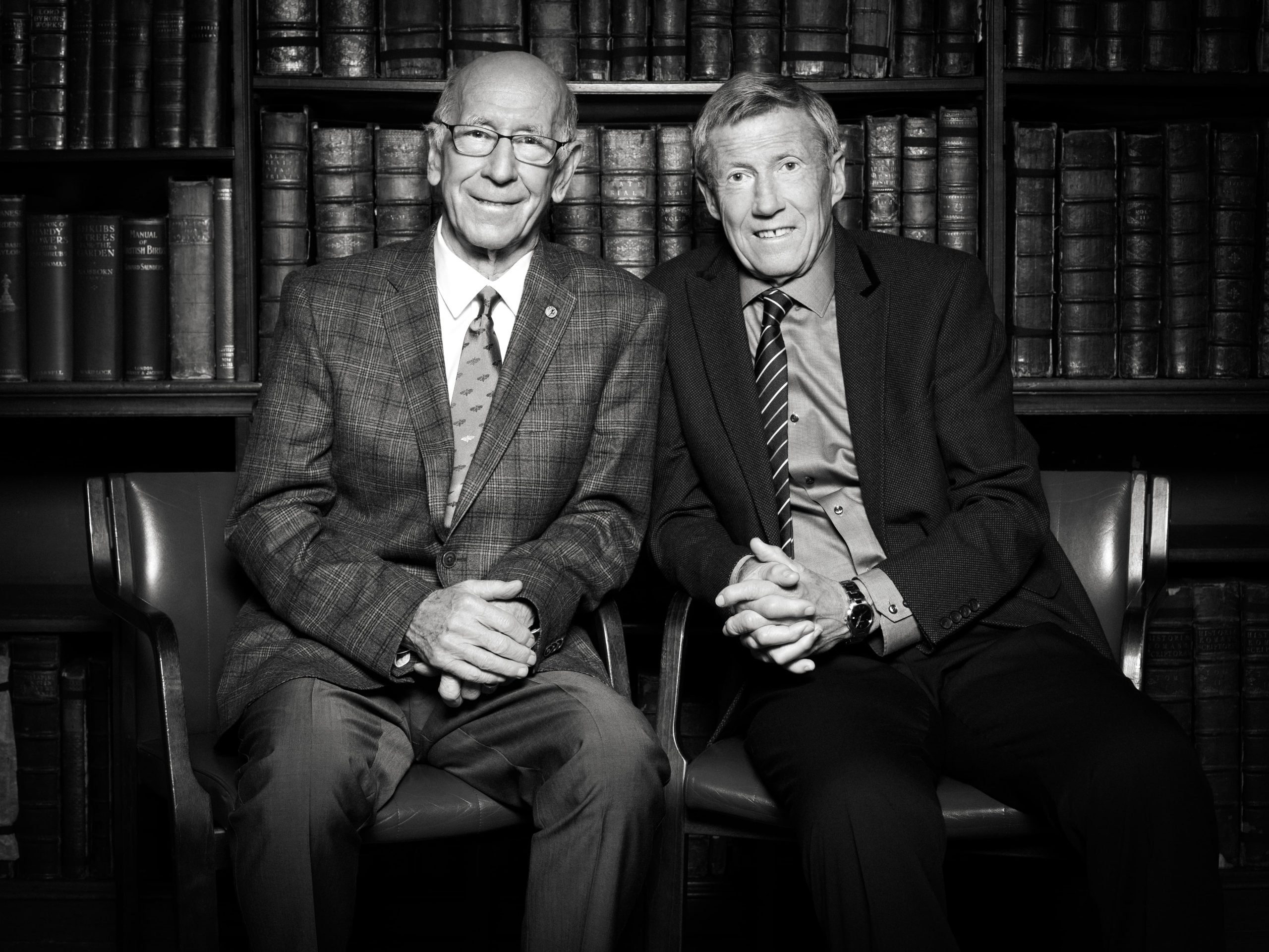 Colin Bell and Sir Bobby Charlton